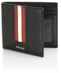 Bally Tonett Lettering Leather Wallet