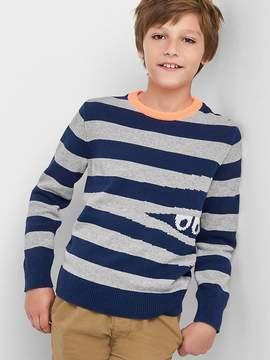 Gap Intarsia crew sweater