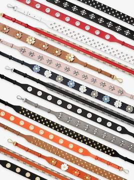 MICHAEL Michael Kors Grommet-Embellished Leather Shoulder Strap