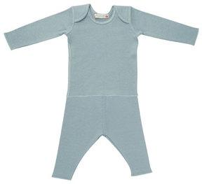 Bonpoint Solid Envelope-Shoulder T-Shirt w/ Leggings, Size 1 Month-2T