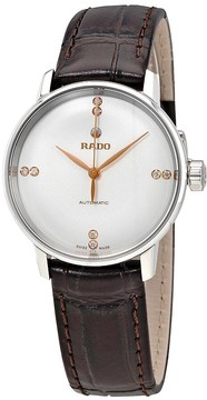 Rado Coupole Classic Silver Dial Automatic Men's Leather Watch