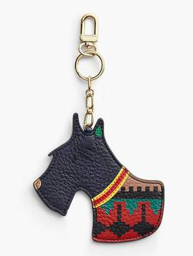 Talbots Scottie Dog Leather Keychain