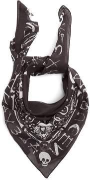 Alexander McQueen Star and skull-print bandana cotton scarf