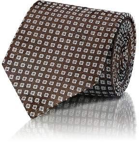 Isaia Men's Square-Dot Silk Jacquard Necktie