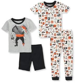 Carter's Boys' 4-Piece Pajama Set - gray multi, 4t