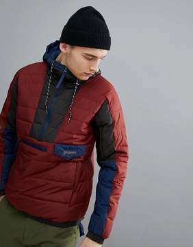 Columbia Norwester Anorak Hooded in Red/Navy