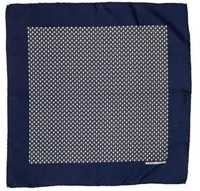 Hermes Silk Geometric Print Pocket Square