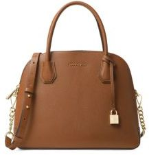 MICHAEL Michael Kors Dome Leather Satchel - OPTIC WHITE - STYLE