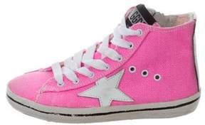 Golden Goose Deluxe Brand Girls' Canvas High-Top Sneakers