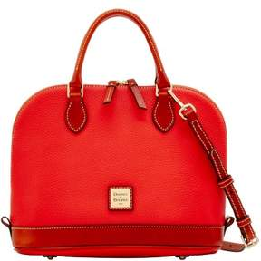 Dooney & Bourke Pebble Grain Zip Zip Satchel - SALMON - STYLE