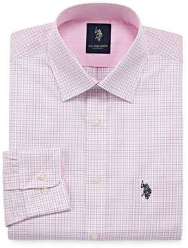 U.S. Polo Assn. USPA Long Sleeve Yarn Dyed Woven Pattern Dress Shirt - Slim
