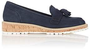 Barneys New York WOMEN'S TASSEL-EMBELLISHED NUBUCK LOAFERS
