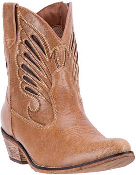 Dan Post Tan Flat Bush Leather Cowboy Boot - Women