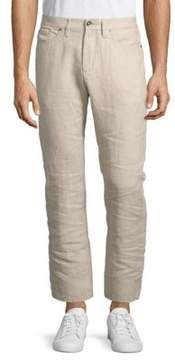 Black & Brown Black Brown Straight-Leg Linen Pants