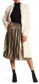Angie Metallic Pleated Midi Skirt