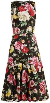 Dolce & Gabbana Floral-print stretch-cotton dress