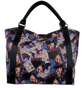 Women's Bettie Page Collage Shopping Bag BPG1084