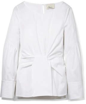 3.1 Phillip Lim Tie-front Cotton-poplin Top - White