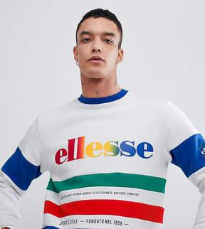 Ellesse Color Block Paneled Sweatshirt In White