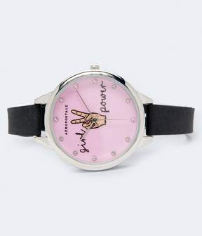 Aeropostale Rubber Girl Power Analog Watch
