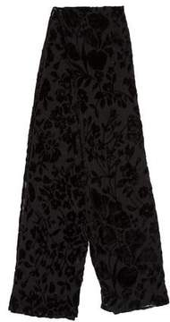 Dolce & Gabbana Sheer Velvet-Trimmed Scarf