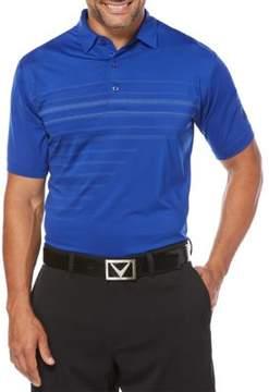 Callaway Opti-Vent Pixelated Print Short Sleeve Polo Golf Shirt