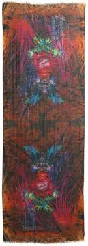 Etro Psychedelic Frog Cashmere Scarf