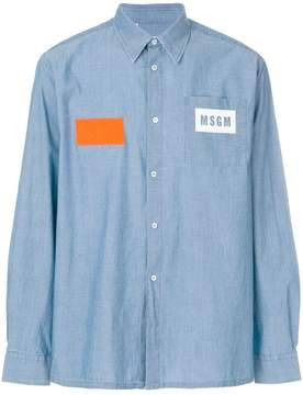 MSGM logo pocket denim shirt