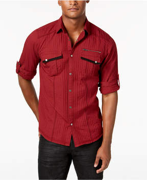 INC International Concepts I.n.c. Men's Textured Utility Shirt, Created for Macy's