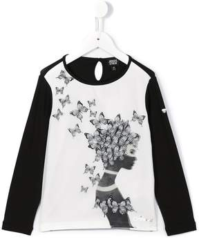 Armani Junior butterfly print T-shirt