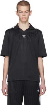 adidas Black Football Jersey Polo