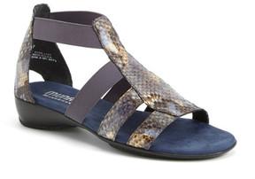 Munro American Zena Snake Embossed Sandal - Multiple Widths Available