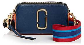 Marc Jacobs Snapshot Saffiano Leather Camera Bag - BLUE SEA MULTI/GOLD - STYLE