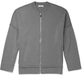 Balenciaga Wool-Jersey Zip-Up Cardigan