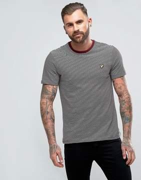 Lyle & Scott Logo Stripe T-Shirt Burgundy