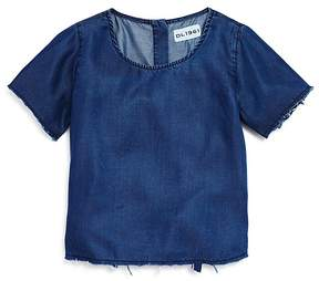 DL1961 Girls' Frayed Chambray Top - Little Kid