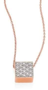 ginette_ny Baby Diamond Ever 18K Rose Gold Pendant Necklace