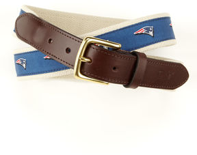 Vineyard Vines New England Patriots Canvas Club Belt