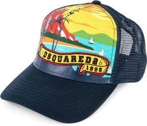 DSQUARED2 beach print baseball cap