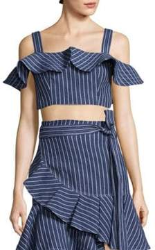 Alexis Benta Cropped Denim Top