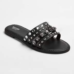 Mossimo Women's Liv Multiple Band Rhinestone Slide Sandals - Merona