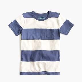 J.Crew Boys' rugby-striped pocket T-shirt