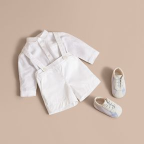 Burberry Shirt and Shorts Two-piece Baby Gift Set
