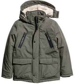 H&M Padded Parka with Hood