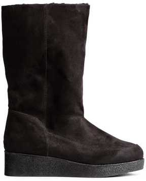 H&M Faux Fur-lined Boots