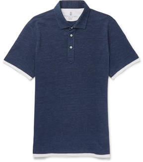 Brunello Cucinelli Layered Cotton-Piqué Polo Shirt