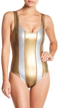Cynthia Rowley Golden Stripe One-Piece Swimsuit