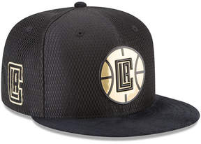 New Era Los Angeles Clippers On-Court Black Gold Collection 9FIFTY Snapback Cap