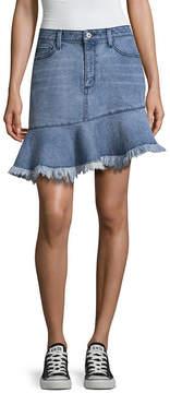 Arizona Asymetrical Denim Skirt-Juniors