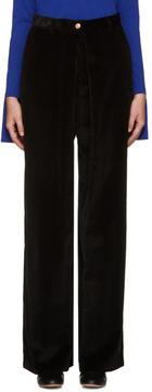 Aalto Black Pleated Corduroy Trousers